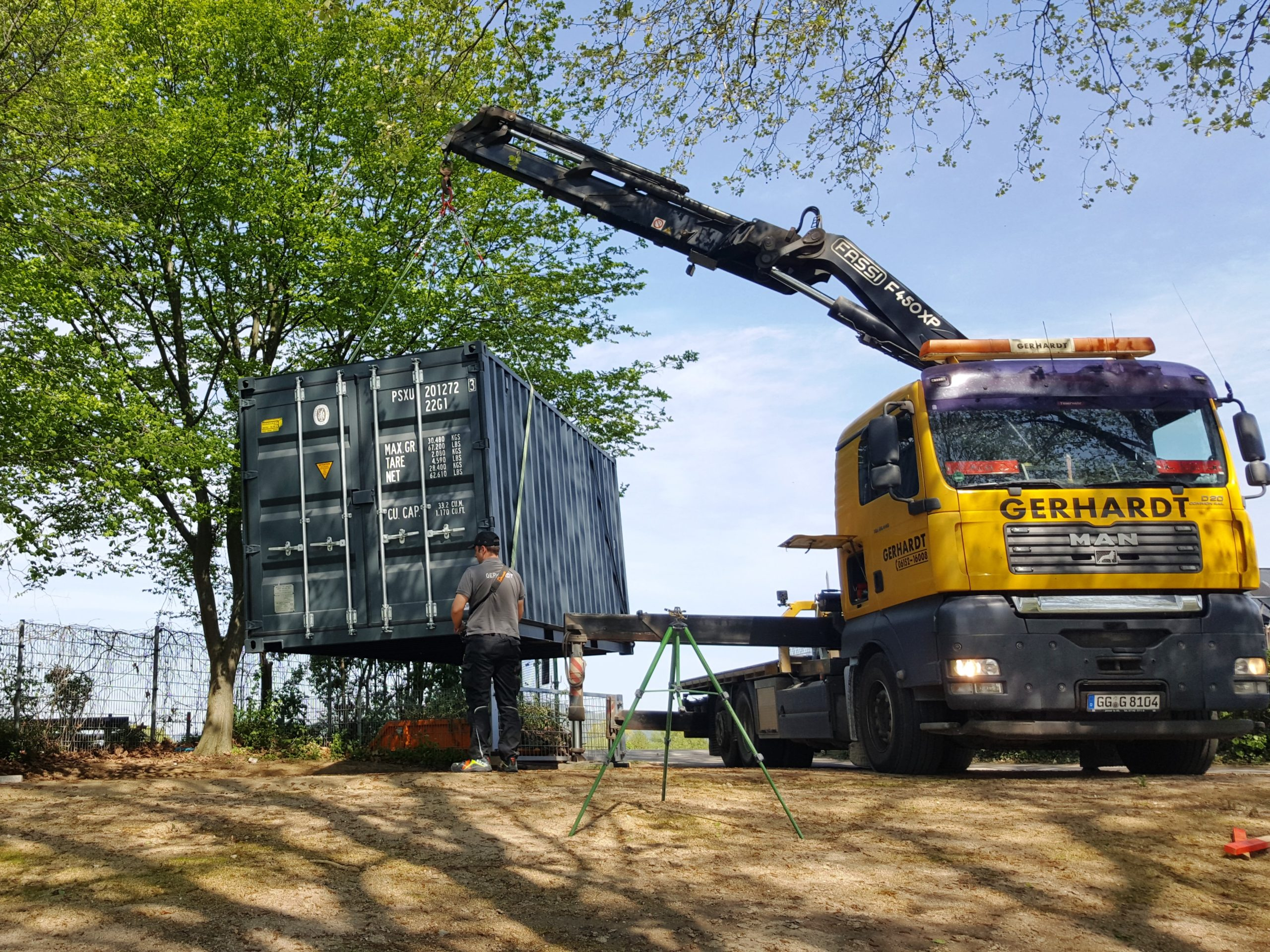 Container kommt