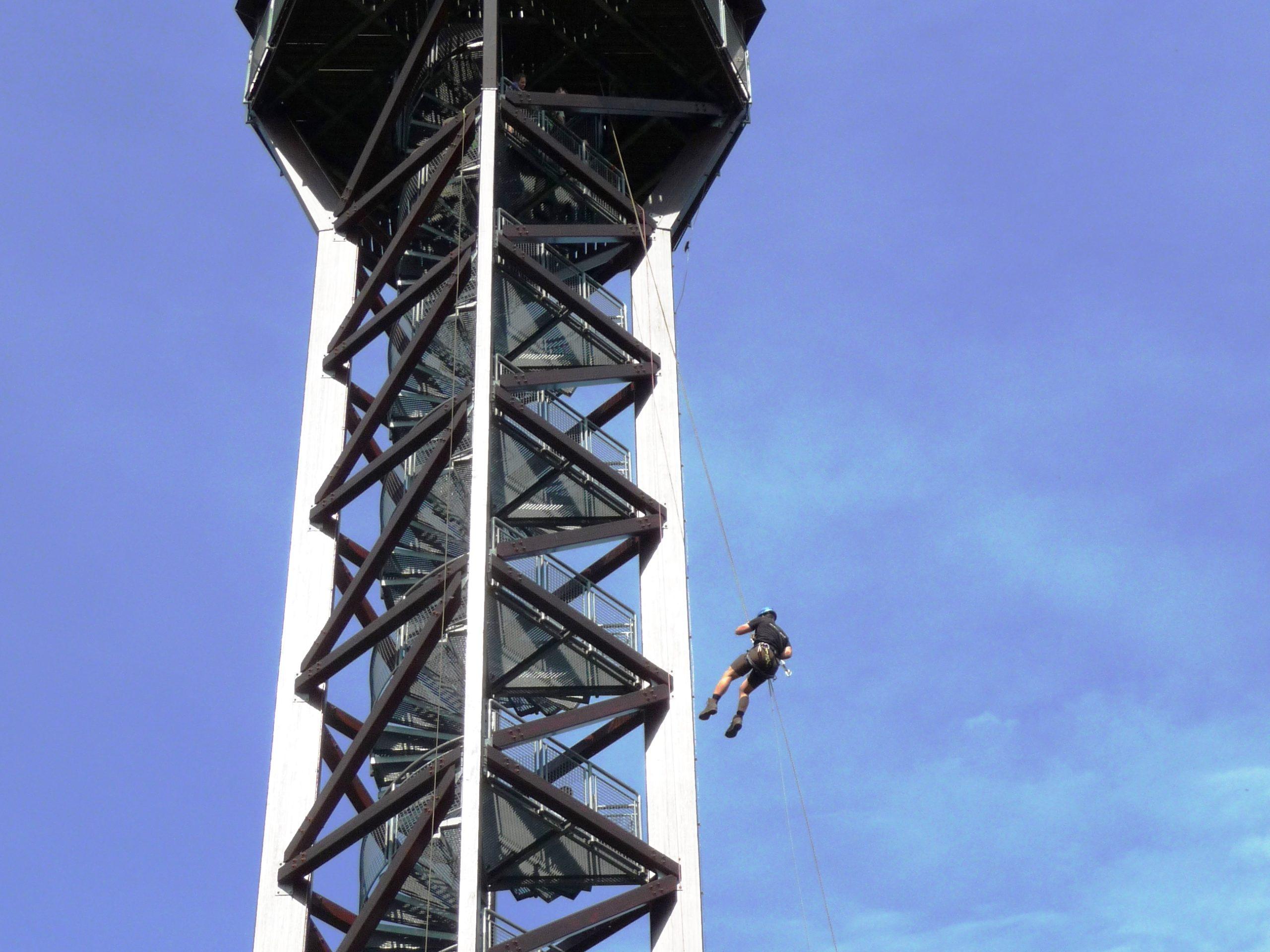 Abseilen Telschik Turm Frank