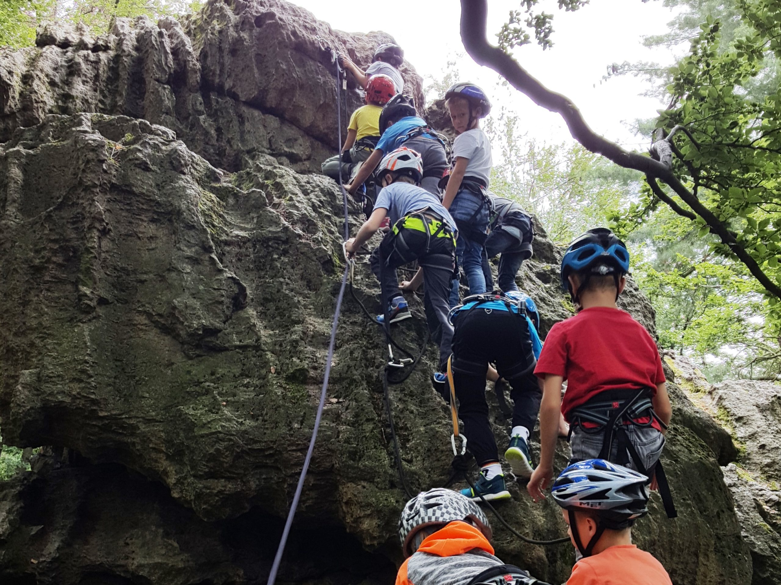 Kletter Kibu Aufstieg