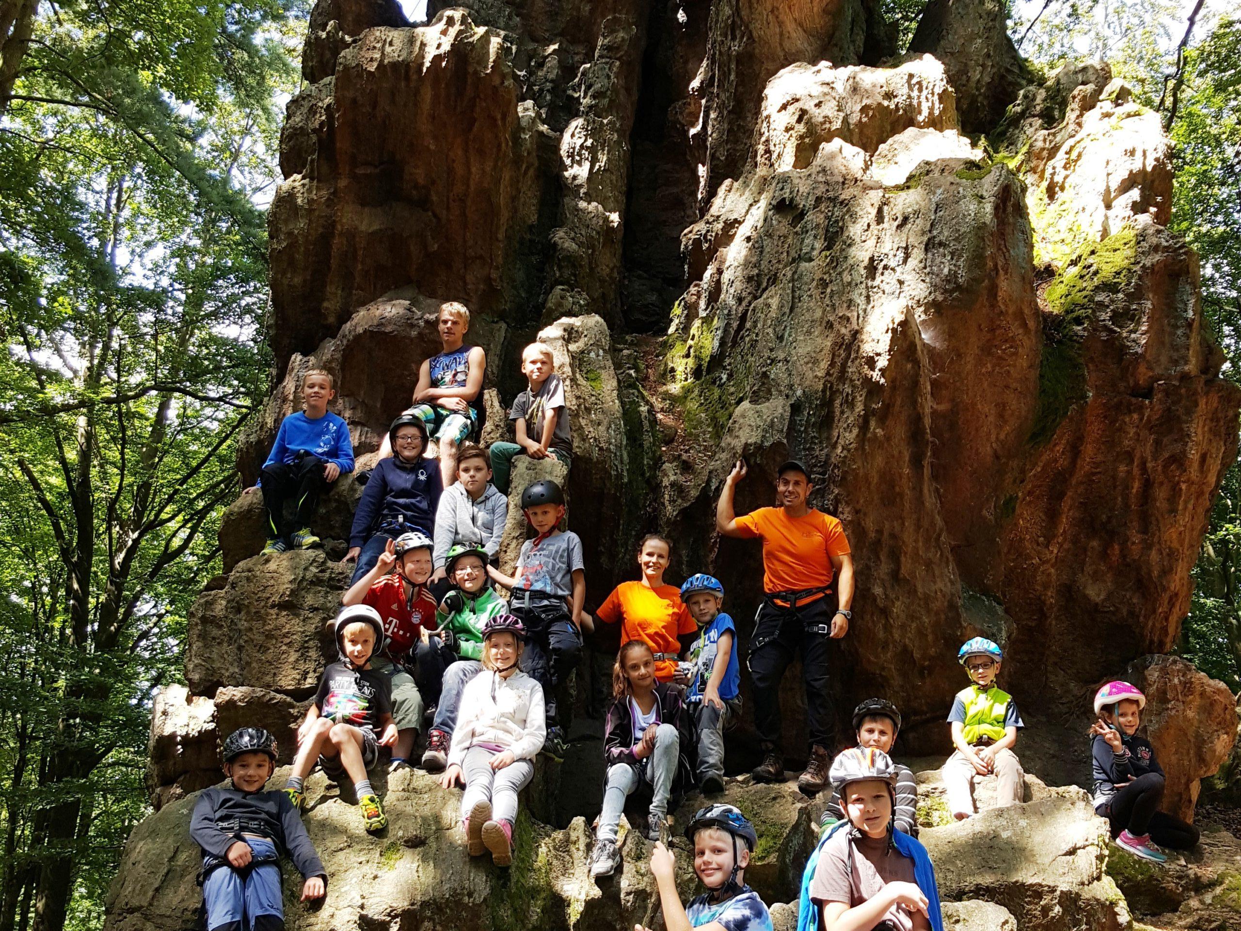 Klettern Kindergruppe